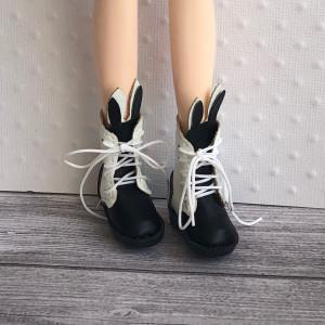 Bottes lapin noir